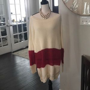 Free people color block sweater dress size M